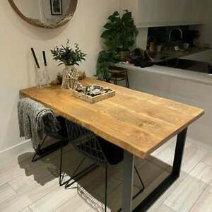 Live Edge Dining Table Industrial Reclaimed Style Steel Legs