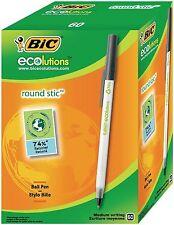 Scatola da 60 BIC ECOLUTIONS round Medium penne NERO Stic