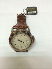 Orologio movado tempoaquatic watch nuovo 100 m lusso pelle marrone 560702483