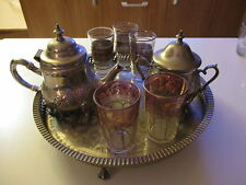 JUEGO DE TE MARROQUI EN COLOR PLATA / ARAB tea set in silver
