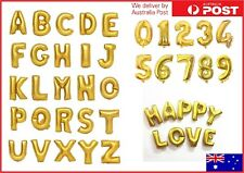 """16"""" Gold Foil Balloons Alphabet Letter Number Birthday Party Wedding 16 inch"""