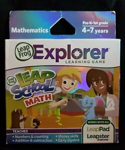 Leap Frog Mathematics Leap School Math Explorer Learning Game Leapster NEW