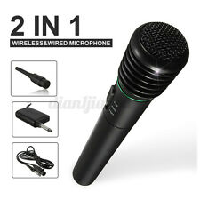 2 in 1 Wireless Microphone Handheld Pro MIC Karaoke System Home Studio Karaoke