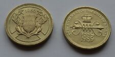 1986 £2 Commonwealth Games & 1989 Bill of Rights Large Old Two Pound Coins