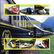 Central African Rep 2015 MNH Express High Speed Trains of Europe 6v M/S Stamps