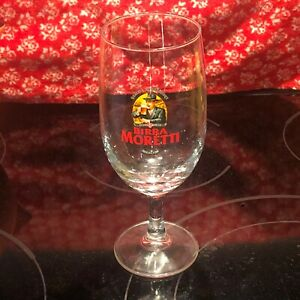 Collectible Birra Moretti Footed Beer Glass Italian Beer