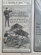 1901 Vintage Smith & Wesson Revolver Gun Big Game Original Ad