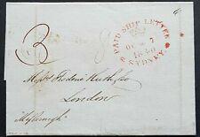 NSW Pre stamp ship letter Sydney Oc 7 1840 to London 18 Fe 1841