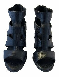 Simply Vera Wang High Heels Dragon Black Women's Size 9