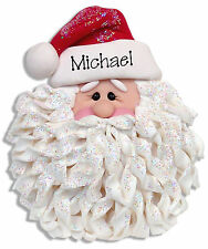 SANTA FACE Personalized CHRISTMAS Ornament Handmade Polymer Clay Deb & Co.