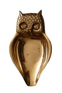 Vintage Unusual Brass Owl Trinket Dish / Scoop.