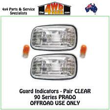 INDICATOR GUARD REPEATER BLINKER LIGHTS fit TOYOTA PRADO 90 PAIR CLEAR 96-02