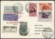 Zeppelin Ägäische Inseln Egeo 1932 8. Südamerikafahrt Zuleitung Si 189 / 695