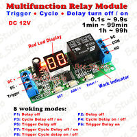 LED Display DC 12V adjustable Trigger Time Delay Switch Timer Cycle Relay Module