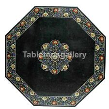 """36"""" Marble Top Dining Table Carnelian Mother of Pearl Floral Inlay Decorate B193"""