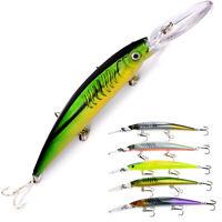 Neue lange Zunge Kranzbänder Tackle Angeln Minnow Köder Lures. Fish Hooks