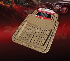 DICKIES ALL WEATHER WATER PROOF 2PCS FRONT FLOOR MATS TAN BEIGE FOR CHEVY