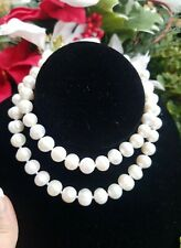 Elegant White 10-11mm Akoya Pearl Necklace, 18KYG Flashed Clasp, 24""