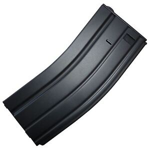 SOFTAIR TOMTAC M SERIES HI CAP MAGAZINE MAG 300RDS WINDING WHEEL AEG BLACK METAL