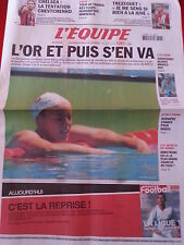 journal  l'équipe 26/07/2005 NATATION MANAUDOU CYCLISME VINOKOUROV FOOT