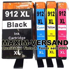 4 Druckerpatronen für HP 912XL OfficeJet Pro 8010 8015 8020 8022 8023 8024 8025