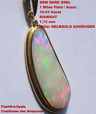 Gem Dark Opal und Diamant 10.05 Karat 750er Gelbgoldanhänger
