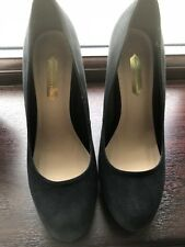 Ladies Black Suede Womens High Heel Stiletto Dorothy Perkins Court Shoes size 4