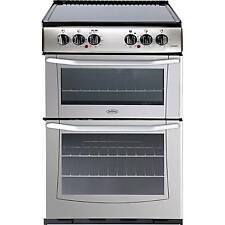 Belling Enfield E552 AA 55cm Electric Ceramic Hob Double Oven Cooker Silver New