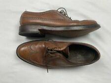 Florsheim Imperial Mens Brown Leather Long Wing Tip Dress Shoes Sz 9.5 D