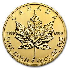2014 1/10 oz Gold Canadian Maple Leaf Coin - Brilliant Uncirculated - SKU #79045