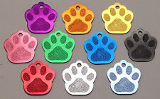 100 Bulk ID Wholesale Paw Print Pet identification tags Anodized Aluminum BLANK