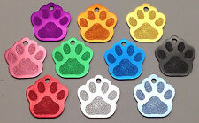 120 Bulk ID Wholesale Paw Print Pet identification tags Anodized Aluminum BLANK