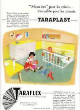 Publicité ancienne Taraflex Sol  ameublement  1955 issue de magazine