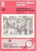 OL 89/90 FC Rot-Weiß Erfurt - Fortschritt Bischofswerda