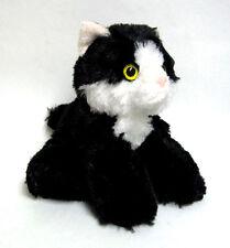 "Aurora Mini Flopsie Maynard Black and White Cat 8"" Stuffed Animal New 31279"