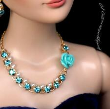 """Rhinestone Necklace and Earring Jewelry Set for 22"""" Tonner Tyler doll 005C"""