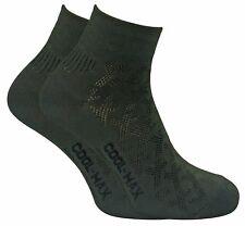 Dr Hunter - 2er Pack Herren Coolmax Atmungsaktiv Knöchel Quarter Trekking Socken