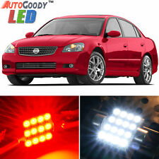 13 x Premium Red LED Lights Interior Package Kit for Nissan Altima 2002-2006