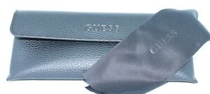 NEW - Authentic - GUESS - BLACK Designer SOFT Eyeglasses CASE & CLEANING CLOTH