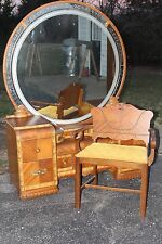 Art Deco Waterfall Vanity/mirror & Stool-REDUCED!