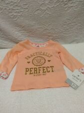 NWT Carter's baby girl playwear T-shirt 12 months / orange