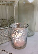 Silver Tea Light Holder Mercury Glass Vintage Wedding Christmas Decoration