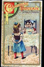 IMAGE CHROMO CHOCOLAT POULAIN / ENFANT & BEBE avec BOL de CHOCOLAT