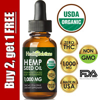 Premium Hemp Oil Extract for Pain Relief, Stress, Keto, Anxiety, Sleep 8000mg