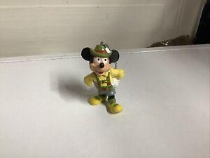 "Disney Bullyland Mickey Mouse In Lederhosen Keyring Key Chain Rare 3"""