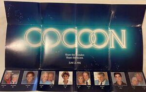 COCOON (1985) Advance Foldout Poster; Rare Media Promo; Ron Howard; Don Ameche