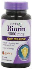 Natrol Fast Dissolve Biotin 5000mcg 90ct Tablets -Expiration Date 05-2018-
