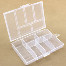Large Clear Plastic 6 Slots Jewelry Storage Box Case Bead Organizer Earrings Box