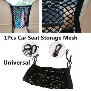 2 Layers Car Seat Cargo Storage Mesh/Organizer Elastic Net Bag Pet Dog Isolation