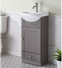 Modern Khaki FreeStanding Bathroom Vanity Cabinet Combo Set Ceramic Vessel Sink